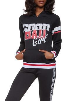 Fleece Lined Hooded Graphic Sweatshirt - 3056038347422