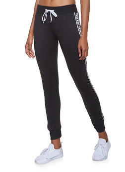 Fleece Lined Graphic Joggers - 3056038347423