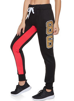Color Block 86 Graphic Joggers - 3056038347443