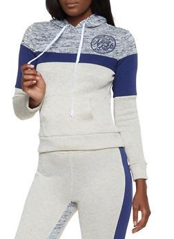 Marled Color Block Sweatshirt - 3056038347600