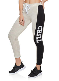 Chill Color Block Sweatpants - 3056038347631