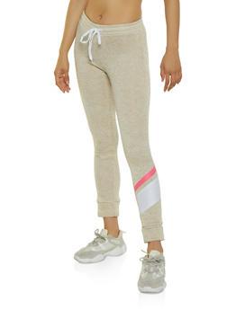 Fleece Lined Knit Joggers - 3056038347643