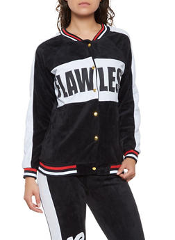 Flawless Graphic Velour Track Jacket - 3056038347850