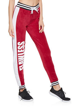 Flawless Graphic Velour Joggers - 3056038347851