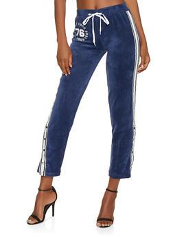 Boss Graphic Velour Flyaway Sweatpants - 3056038347861