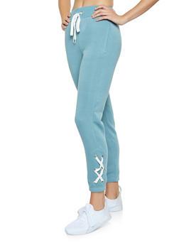 Lace Up Side Sweatpants - 3056051060032