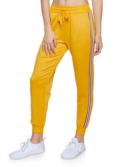 Striped Tape Track Pants - 3056051060801