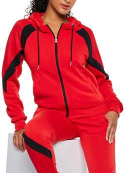 Mesh Detail Hooded Sweatshirt - 3056051061260