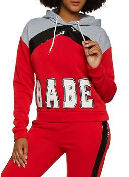 Babe Sequin Detail Sweatshirt - 3056051061410