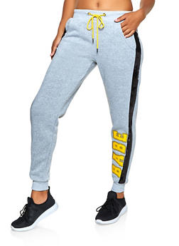 Babe Sequin Detail Joggers - 3056051061411