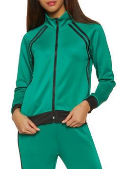 Varsity Stripe Track Jacket - 3056051061420