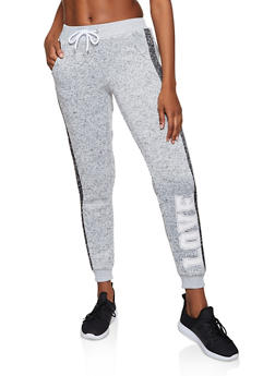 Knit Love Graphic Joggers - 3056051061751