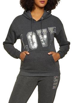Love Sequin Sweatshirt - 3056051061790