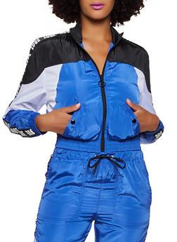 Love Tape Zip Up Windbreaker Jacket - 3056051063190