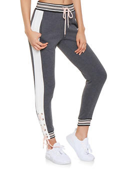 Lace Up Sweatpants - 3056051063451