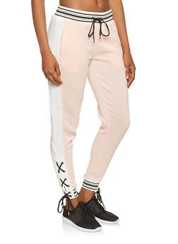 Lace Up Sweatpants - 3056051063451