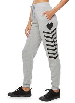 Multi Stripe Fleece Joggers - 3056051064500