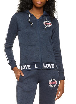 Love Graphic Knit Sweatshirt - 3056051065639