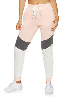 Color Block Sweatpants - 3056051066139