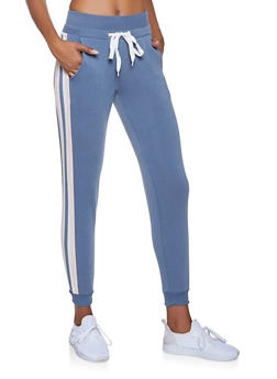 Side Stripe Detail Joggers - 3056051066143