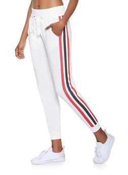 Side Stripe Detail Joggers - 3056051066143