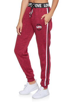 Love Graphic Joggers - 3056051066391