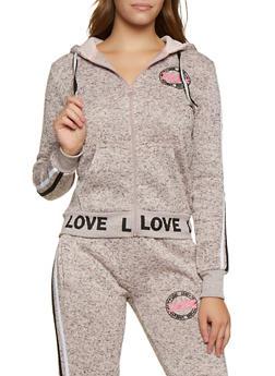 Love Varsity Stripe Sweatshirt - 3056051066392