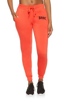 Babe World Tour Graphic Sweatpants - 3056051066891