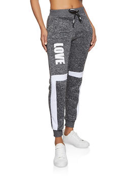 Love Graphic Marled Joggers - 3056051066941