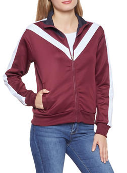 Chevron Color Block Track Jacket - 3056051067131