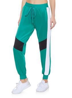 Color Block Activewear Joggers - 3056051067132