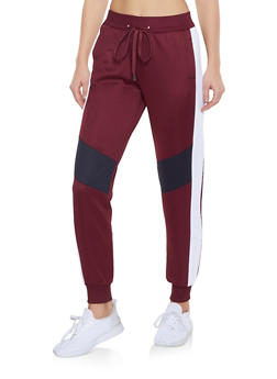 Color Block Activewear Joggers - 3056051067132