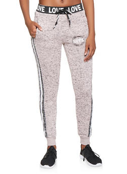 Love Graphic Marled Joggers - 3056051067291