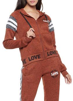 Marled Love Graphic Sweatshirt - 3056051067292