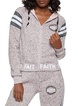 Marled Faith Hooded Sweatshirt - 3056051067296