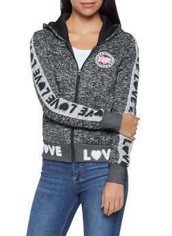 Love Graphic Hooded Sweatshirt - 3056051067920
