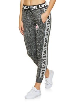 Love Graphic Joggers - 3056051067921