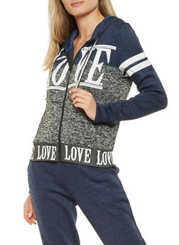 Love Graphic Hooded Sweatshirt - 3056051067940