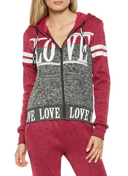 Love Graphic Hooded Sweatshirt - 3056051067940