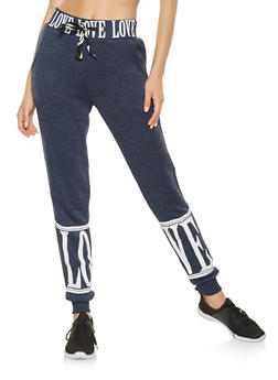 Love Graphic Sweatpants - 3056051067941