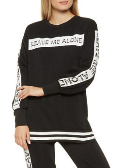 Graphic Fleece Lined Sweatshirt - 3056051069770