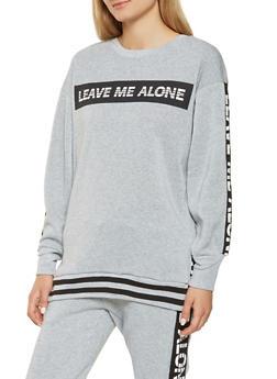 Graphic Fleece Lined Sweatshirt - 3056051069770