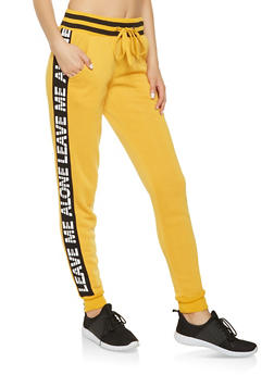 Graphic Side Stripe Sweatpants - 3056051069771