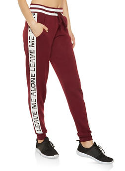 Graphic Side Stripe Sweatpants - 3056051069771