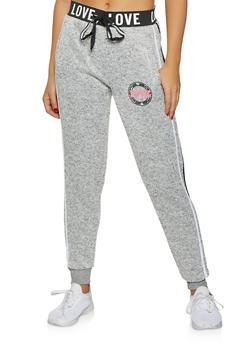 Love Graphic Marled Sweatpants - 3056051069811