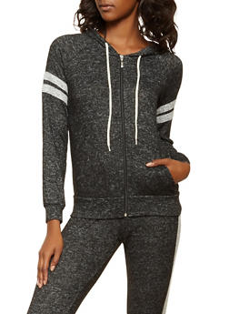Varsity Stripe Brushed Knit Sweatshirt - 3056054260553