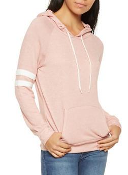 Brushed Knit Hooded Sweatshirt - 3056054260633