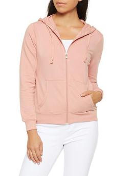 Hooded Zip Up Sweatshirt - 3056054260675
