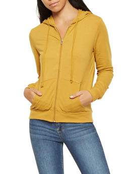 Hooded Zip Up Sweatshirt - 3056054260675