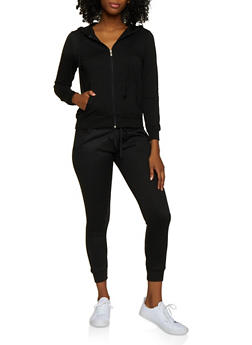 Zip Up French Terry Lined Sweatshirt - 3056054266750